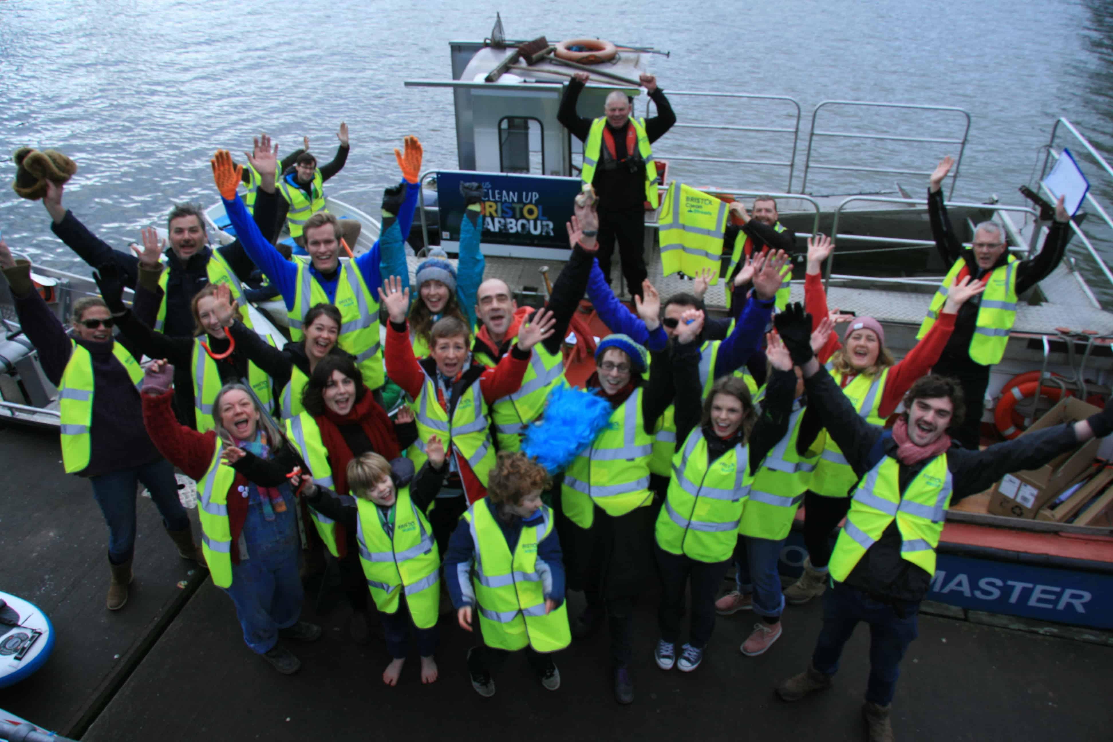 Clean Up Bristol Harbour volunteers.